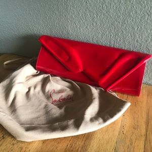 AUTHENTIC Christian Louboutin Red Leather Clutch